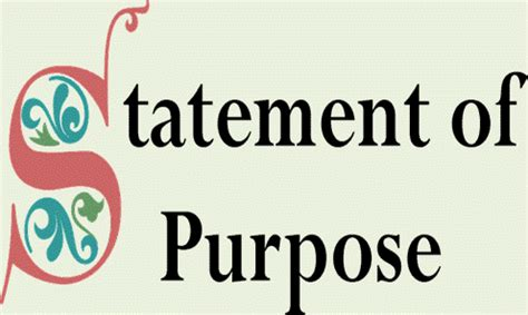 Statement of purpose essay for college